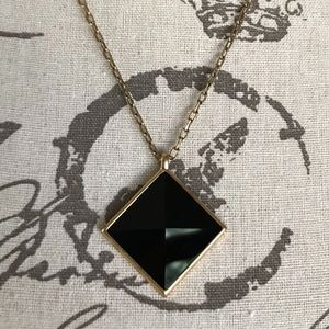 Lucky Brand Black Diamond-Shaped Necklace